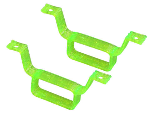 Rakonheli TPU Battery Mount (2) (for 66BLW981, IDTX980/982/985) (Green)