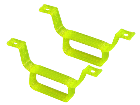 Rakonheli TPU Battery Mount (2) (for 66BLW981, IDTX980/982/985) (Yellow)