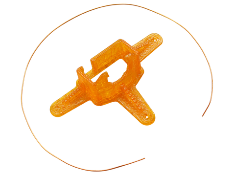TPU Micro FPV Camera Mount-10 Degrees (Orange)