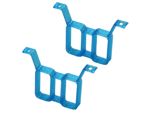 Rakonheli TPU Twin Battery Mount (2) (Blue)