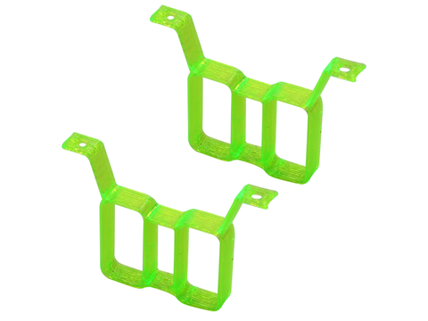 Rakonheli TPU Twin Battery Mount Style 02 (2) (for 66BLW981/982/983, 76BLW981) (Green)