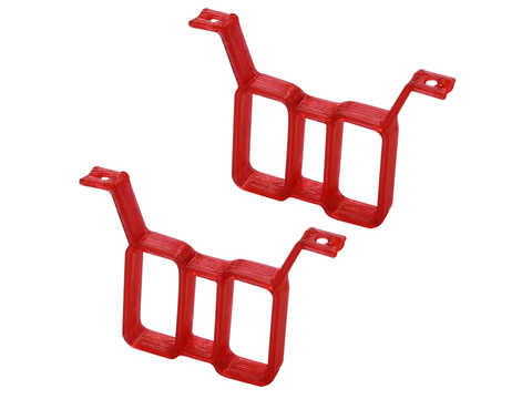 Rakonheli TPU Twin Battery Mount (2) (Red)