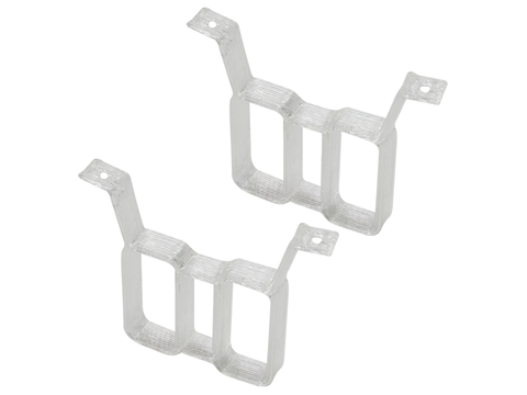Rakonheli TPU Twin Battery Mount Style 02 (2) (for 66BLW981/982/983, 76BLW981) (White)