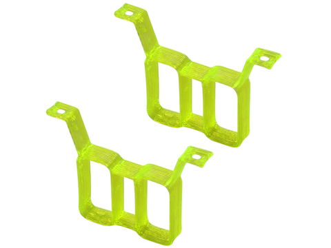 Rakonheli TPU Twin Battery Mount Style 02 (2) (for 66BLW981/982/983, 76BLW981) (Yellow)