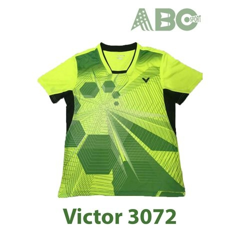 Badminton Shirts Victor 3072 blue lime