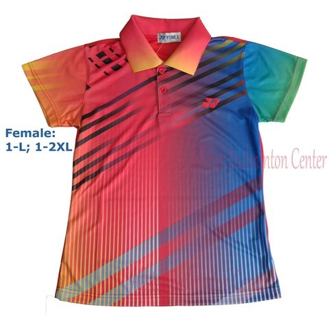 Badminton Shirt Yonex 1657 Red Blue