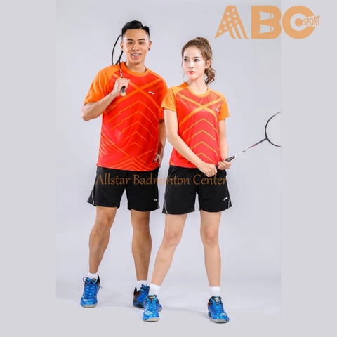 Badminton Shirt Lining 1783 Red orange