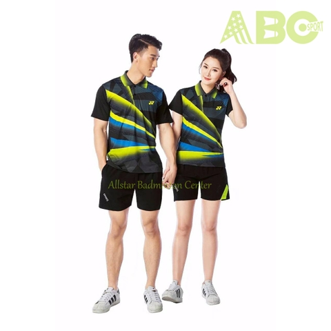 Badminton Shirts Yonex 1809 black yellow