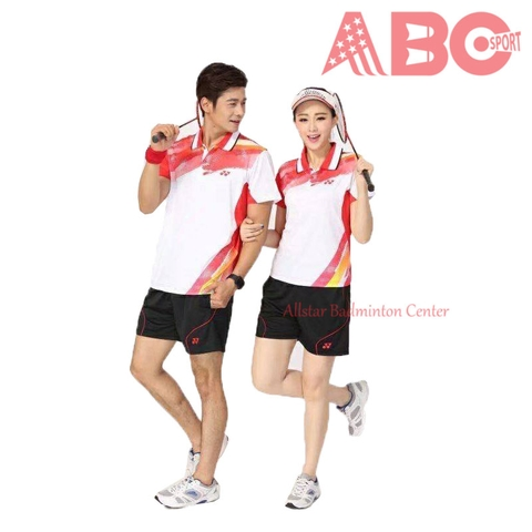 Badminton Shirts Yonex 1823 white red