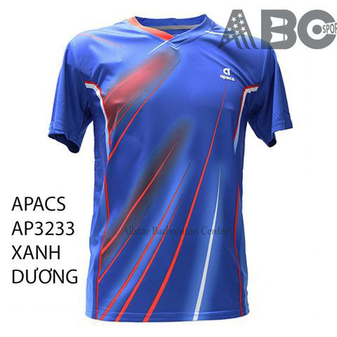 Badminton Shirt Apacs Original 3233 blue