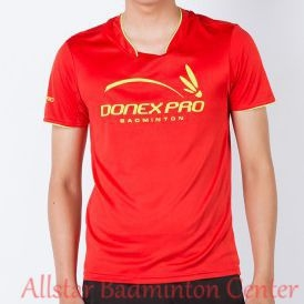 Badminton Shirt Donex Pro Original Training Red