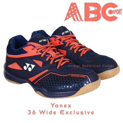 Badminton Shoes Yonex 36 WIDE Exclusive NAVY BLUE