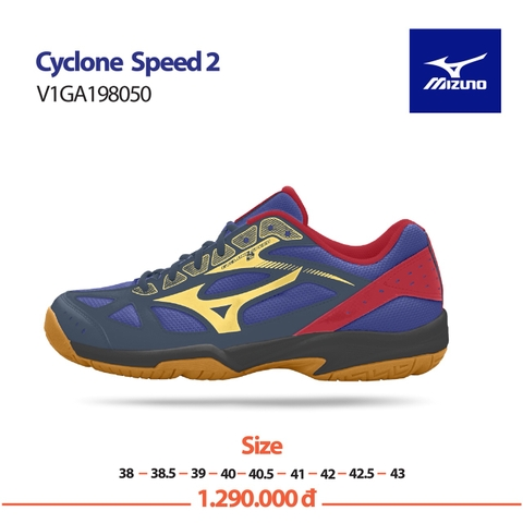 Badminton Shoes Mizuno CYCLONE SPEED 2 - Blue Yellow Red