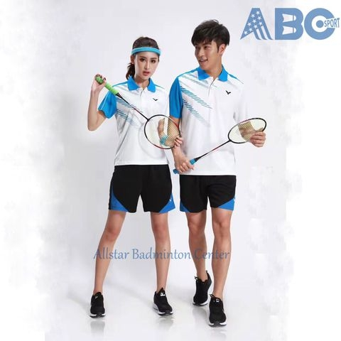 Badminton Shirt Victor 1772 White Blue