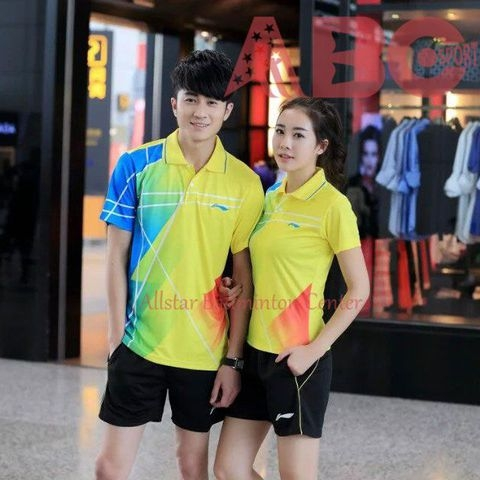 Badminton Shirt Lining 35152 Yellow