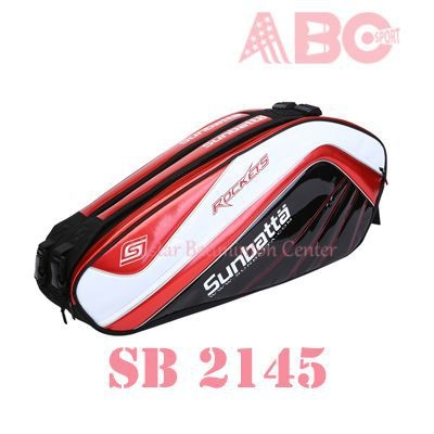 Badminton Bag Badminton Original Sunbatta SB 2145 White Red