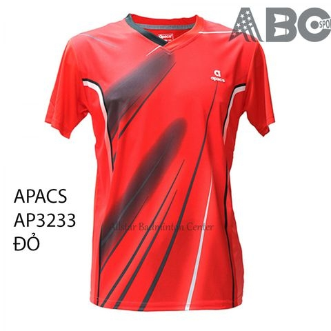 Badminton Shirt Apacs Original 3233 red