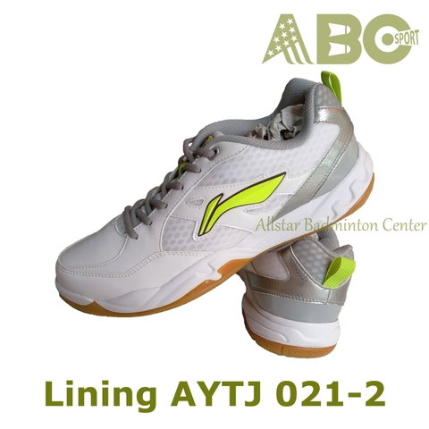 Badminton Shoes Lining AYTJ 021-2 White Lime