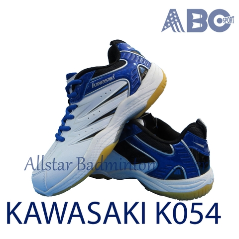 Badminton Shoes Kawasaki K054 White Blue
