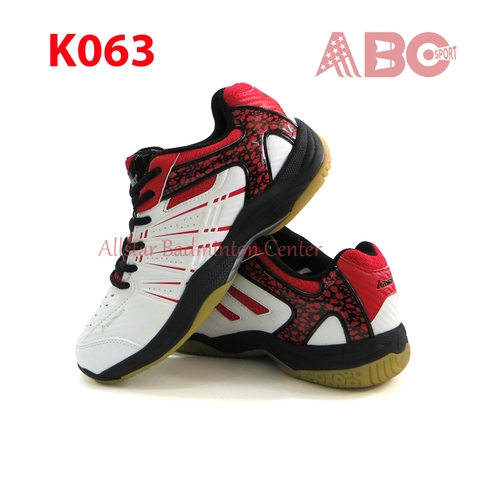 Badminton Shoes Kawasaki K063 White Red