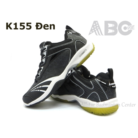 Badminton Shoes Kawasaki K155 black white