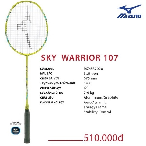 Badminton Racket  Mizuno Sky Warrior 107