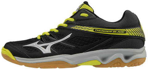 Badminton Shoes Mizuno Thunder Blade Black - Yellow - White