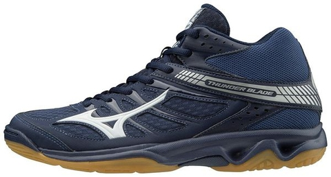 Badminton Shoes Mizuno Thunder Blade MID Blue
