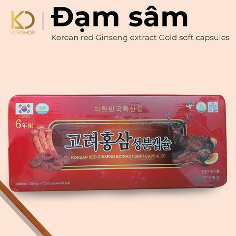 ĐẠM SÂM KOREAN GINSENG EXTRACT GOLD SOFT CAPSULES
