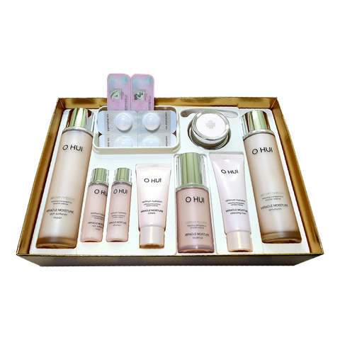 SET OHUI MIRACLE MOISTURE OPTIMUM HYDRATION (HỒNG) 9SP