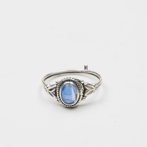 R INDI SMALL ELLIPSE STONE BLUE KYA