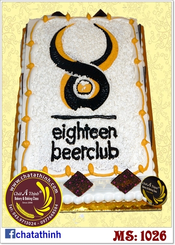 1026 - eighteen beer club banh logo cho quán bia
