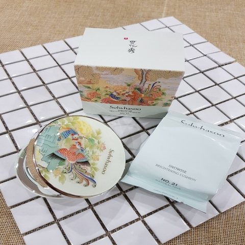 Cushion Sulwhasoo xanh Snowise Brightening Cushion No 21 Natural
