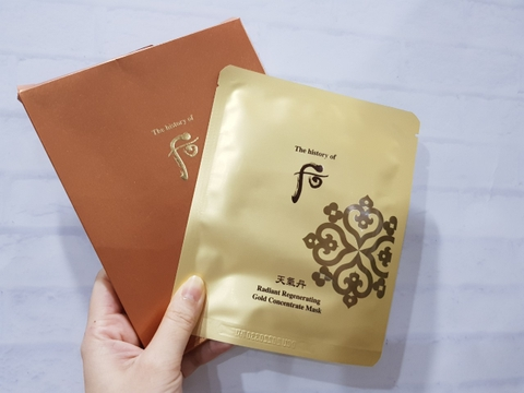 Mặt nạ Whoo tái sinh Radiant Regenerating Gold Concentrate Mask