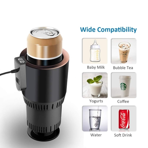 AZFUNN 2-in-1 Smart Car Cup Warmer and Cooler