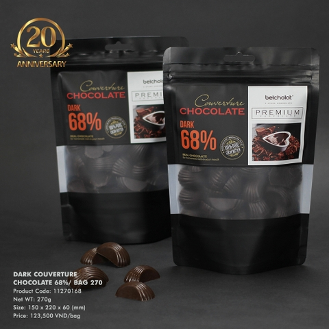 Dark Couverture Chocolate 68%/ Bag 270