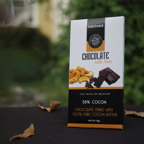 Dark Chocolate with Nuts 58%