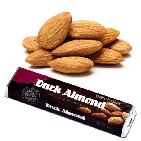 Dark Chocolate with Almond 45g (Pack 3pcs)