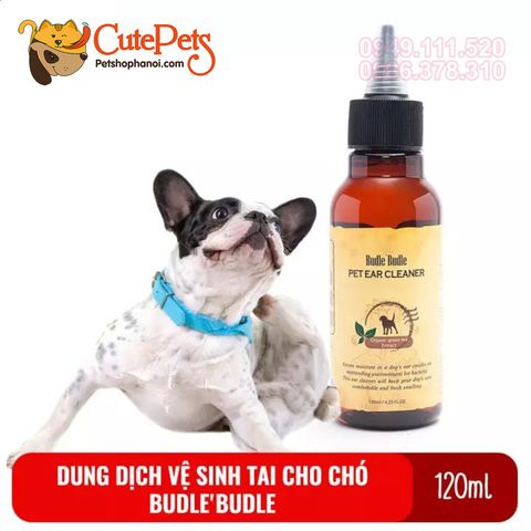 Dung dịch vệ sinh tai cho chó Budle Budle Pet Ear Cleaner 120ml - CutePets