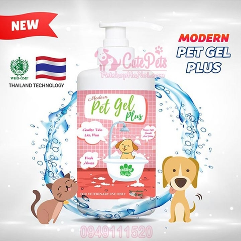 Sữa tắm Modern Pet Gel Plus 500ml Trị ve rận - Cutepets
