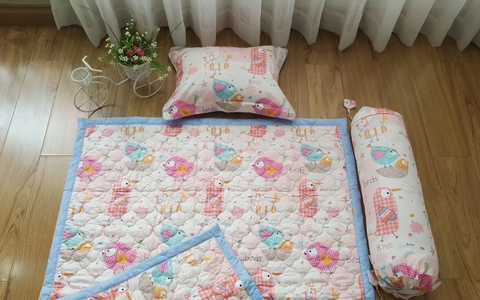 Bed set – Pink bird -  BDK04