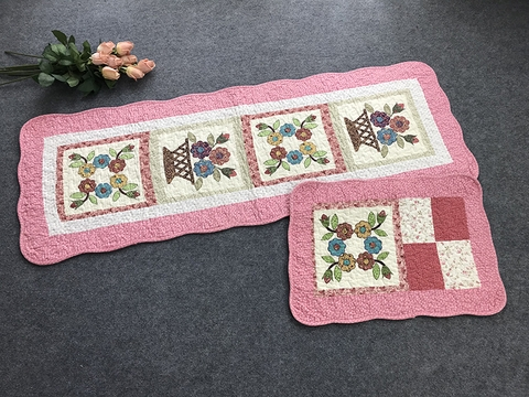 Mats- Set of 3 – The Wreath (Pink) - T3N111