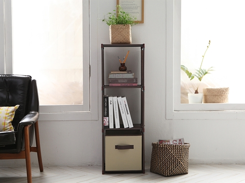 3-blocks shelves- Brown - JNY03BR