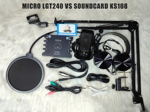 Combo Micro LGT240 vs Soundcard KS108