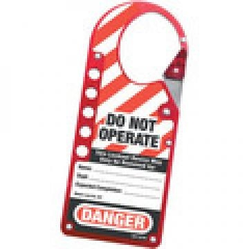 427 - LABELED RED LOCKOUT HASP
