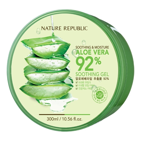 GEL LÔ HỘI NATURE REPUBLIC ALOE VERA 92% SOOTHING
