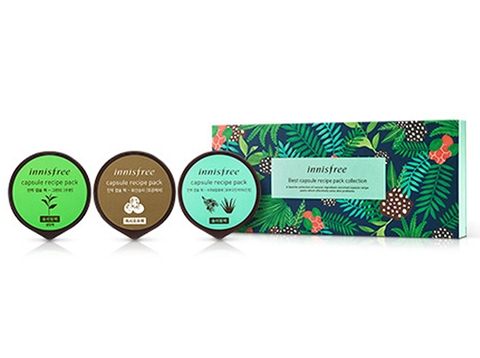 SET 3 MẶT NẠ INNISFREE BEST CAPSULE RECIPE PACK COLLECTION