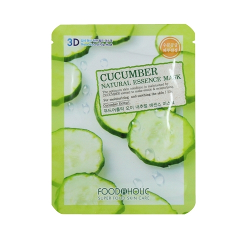 MẶT NẠ 3D FOODAHOLIC CUCUMBER NATURAL ESSENCE MASK