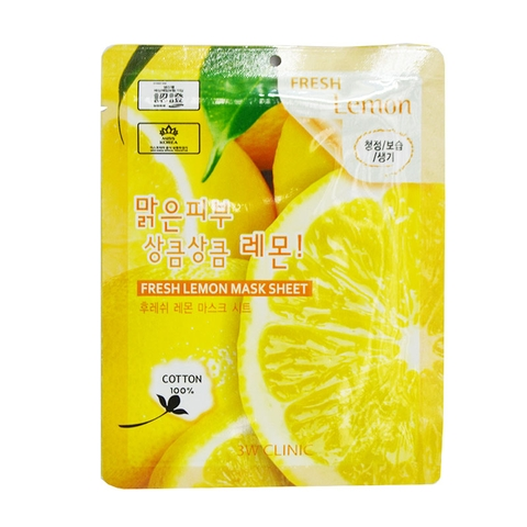 MẶT NẠ 3W CLINIC FRESH LEMON MASK SHEET