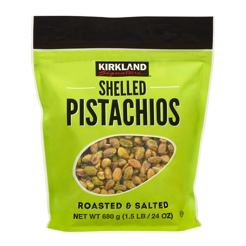 HẠT DẺ TÁCH VỎ SHELLED PISTACHIOS ROASTED & SALTED KIRKLAND SIGNATURE MỸ 680G